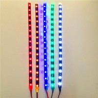 DC12V SMD2835 15LED 3W white green yellow red blue light string DIY car light Christmas LED decorate lights Auto-LED