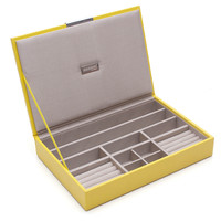 Stack Jewelry Tray w/ Lid, Yellow, Medium, Jewelry Holders & Displays