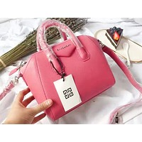 Givenchy fashion sells casual ladies' shopping single-shoulder bag in pure color Rose Red