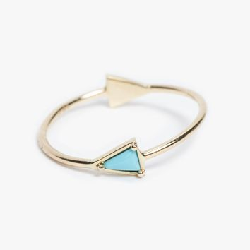 Turquoise Double Triangle Ring