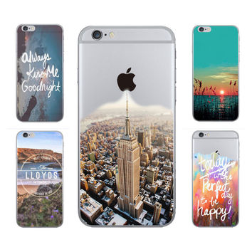 Beautiful New York City, Mountain, Tower Scenery Transparent iPhone Case