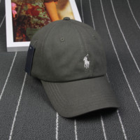 Army Green Polo Embroidered Outdoor Baseball Cap Hats