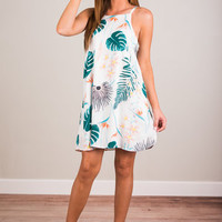Can't Keep Palm Dress, Ivory