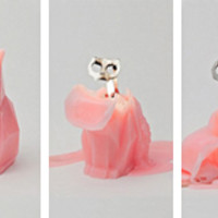 """""""Pyropet"""" Cat Candle (Grey)"""