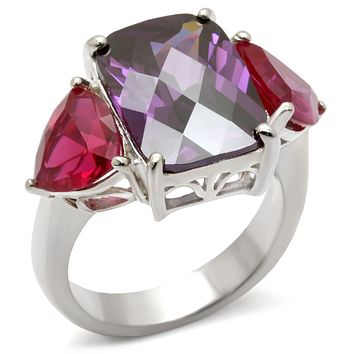49702 High-Polished 925 Sterling Silver Ring with