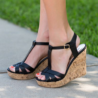 Step Up Your Game Wedge-Black