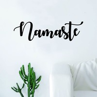 Namaste Quote Decal Sticker Wall Vinyl Art Home Decor Decoration Teen Inspire Inspirational Motivational Living Room Bedroom Yoga