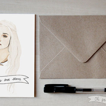 Daenerys Targaryen greeting Valentine's card Game of Thrones Emilia Clarke
