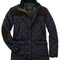 Quilted Jacket with Suede