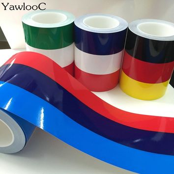 1 pc/lot 1M* 15CM M-Colored Germany Italy French Flag Striped Car Hood Vinyl Sticker Body Decal For BMW M3 M5 M6 E46 E92 Series