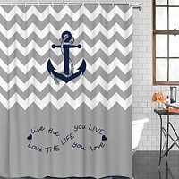 "Fantasy Star Fabric Shower Curtains for Bathroom - Gray and White Chevron Zig Zag Shower Curtain Bathroom Decor Waterproof Polyester Fabric Machine Washable Bath Curtain with Hooks - 60"" x 72"" 60"" X 72"""