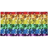 LGBT Camo Pride In The Military All Over Beach Towel