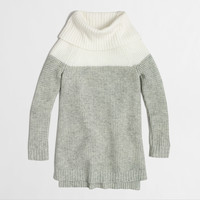 FACTORY GIRLS' COLORBLOCK WAFFLE TURTLENECK SWEATER