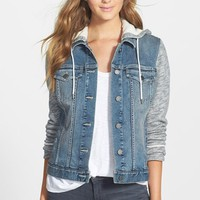 Women's Two by Vince Camuto Hooded Denim Jacket,