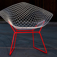 Two Tone Bertoia Diamond for Knoll 100 Restored by castandcrew