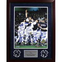 New York Yankees Multi Signed 1996 WS Celebration 16x20 Photo (MLB Auth) (21 Sigs) Elite Framed