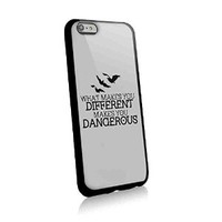 Divergent Quote What Makes You Different Make You Dangerous for Iphone and Samsung Galaxy Case (iphone 6 plus black)