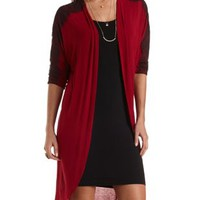 Lace-Trim Duster Cardigan by Charlotte Russe