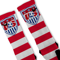 USA World Cup Soccer Customized Nike Elite Socks - Fast Shipping!!