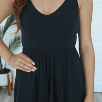 Resort Bound Romper - Black