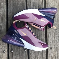 Nike Air Max 270 Tide brand female air cushion running shoes