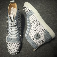 Christian Louboutin CL Pik Pik Style #1975 Sneakers Fashion Shoes Best Deal Online