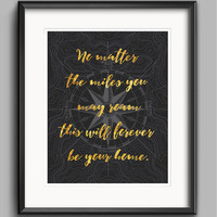 Home Family Printable in Gold