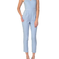 Chambray Crop Jumpsuit
