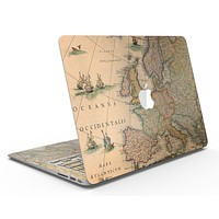 The Vintage Atlantic Ocean Map Pattern - MacBook Air Skin Kit