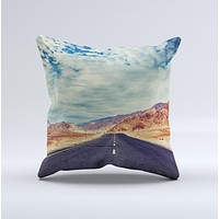 The Desert Road ink-Fuzed Decorative Throw Pillow
