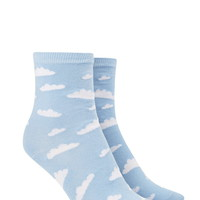 Cloud Print Crew Socks