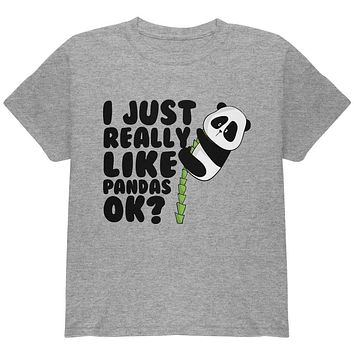 I Just Really Like Pandas Cute Youth T Shirt