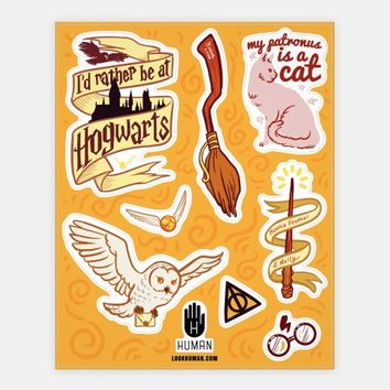 Magical School Stickers