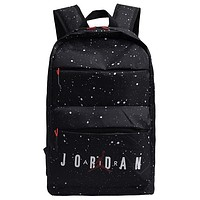 AIR JORDAN 2019 new splash ink light travel sports travel commuter backpack Black