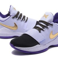 Nike Zoom PG 1 Black/White/Purple Basketball Shoes