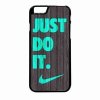 Nike Just Do It Wood Colored Darkwood Wooden Fdl iPhone 6 Plus Case