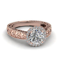 AMAZING 2.25CTW WHITE ROUND STUD 925 STERLING SILVER ENGAGEMENT AND WEDDING RING