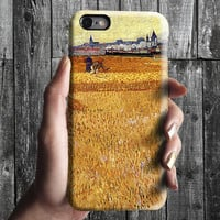 Wheat Field - Van Gogh iPhone Case 6, 6S, 6 Plus, 4S, 5S. Mobile Phone. Art Painting. Gift Idea. Anniversary. Gift for him and her