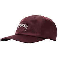 Lined Nylon Low-Pro Cap in Berry