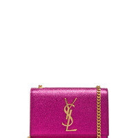 Small Monogramme Chain Bag in Metallic Pink