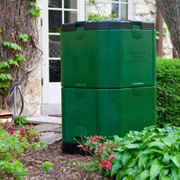 Insulated 16.5 Ft. Compost Bin In Green 1.5 Inch Thick Heavy Duty Plastic