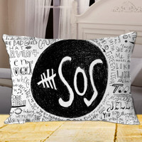 5 Seconds Of Summer on Rectangle Pillow Cover