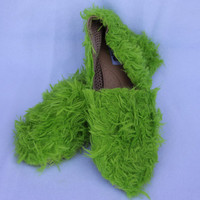 Grinch Shoes WhoVille Green Tacky Ugly Hilarious Flats Shoes ANY SIZE Christmas Costume Party Shoes