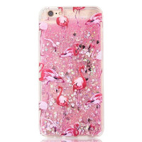 Tropical Glitter Flamingos Cases for IPhone in Five Colors!