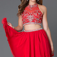 Dresses, Formal, Prom Dresses, Evening Wear: Short Homecoming Two Piece Dress 6060