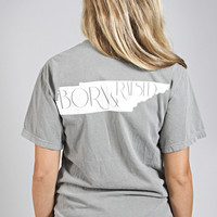 charlie southern: born & raised tee - Tennessee [grey]