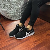 Black NIKE Canvas Sports Running Shoes JUICEACTION