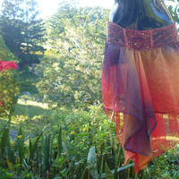 Firebird Dreamtime skirt avante gard tutu hippy by cypressavenue