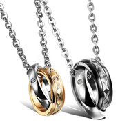 Korean Accessory Titanium Couple Jewelry With Christmas Gift Box [9509253444]