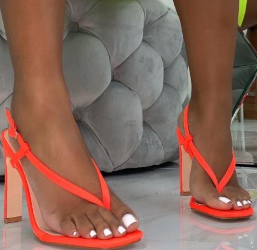 Image of Hot style hot selling sexy versatile flip-toe square sandals